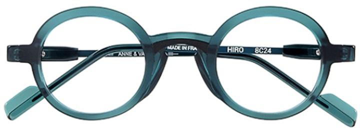 Lunettes Anne et Valentin Hiro rondes bleue