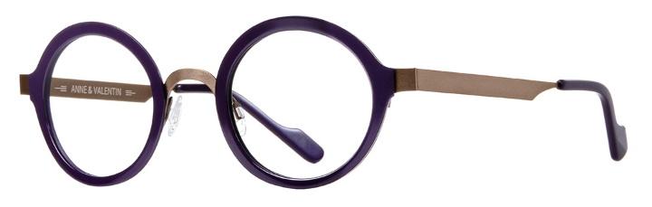 lunettes anne et valentin métal violet