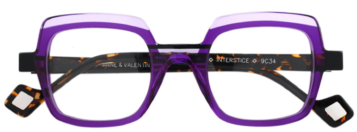 lunettes anne et valentin violet